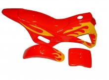 Kompletné plasty pre minicross, červená / žltá