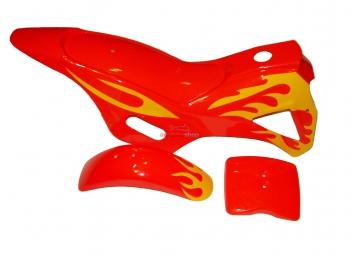 Kompletné plasty na minicross, červená / žltá