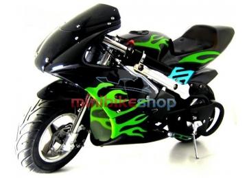 MINIBIKE Flame Edition čierna-zelena