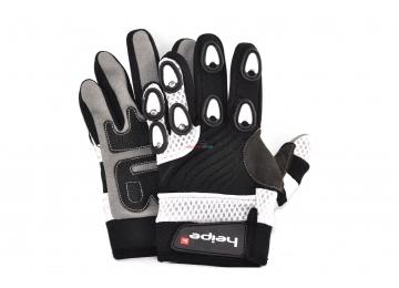 Dětské MotoCross rukavice Heipe Bílé