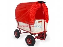 Ručný vozík s nafukovacími kolesami a plachtou
