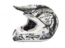 Motocrossová prilba Heipe H1 Skull- Čierna