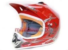 Detská Moto Helma Nitro, Červená