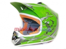 Detská Moto Helma Nitro, Zelená