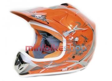 Detská Moto Helma Nitro, Oranžová