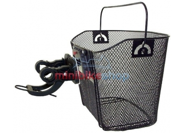 Oceľový košík na riadidlá bicykla