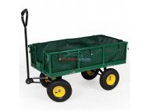 Záhradný vozík s výklopnými bokmi a plachtou