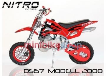 Minicross DS67, červená-čierná