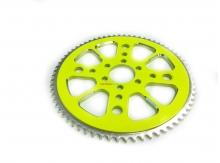 Rozeta CNC Alu pre minibike 68 zubov- žltá