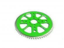 Rozeta CNC Alu pre minibike 68 zubov- zelená