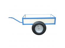 Drevený prívesný vozík modrý