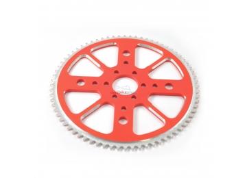 Rozeta CNC Alu pre minibike 72 zubov- červená
