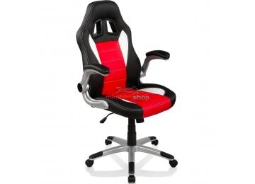Kancelárska stolička Monza Racing Black - Red