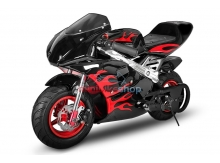 Minibike Nitro FLAME EDITION čierna-červená